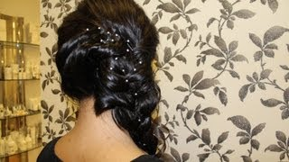getlinkyoutube.com-HOW TO: Indian Side Braid Hair Style Tutorial