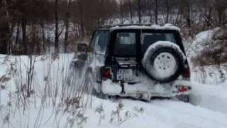 getlinkyoutube.com-4x4 Nissan Patrol Y60  Winter off road -  Brzesko, Dębno 2008