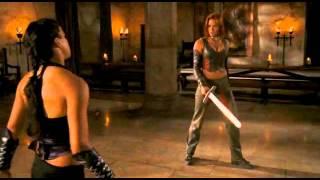 "getlinkyoutube.com-Michelle Rodriguez & Kristanna Loken - Fight & Death Scenes ""Bloodrayne"""