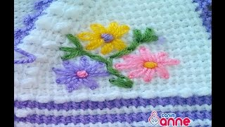getlinkyoutube.com-Bebek Yelek Modeli Yapılışı Çiçek İşlemesi