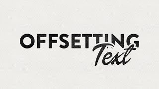Illustrator CC CS6 Tutorial - Offsetting Text