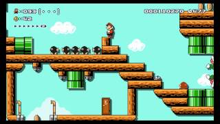 getlinkyoutube.com-Super Mario Maker - Expert 100 Mario Challenge Wii U Footage (Direct-Feed)