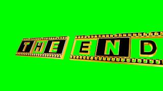 getlinkyoutube.com-60FPS 4K The End Strip Title Green Screen Animation