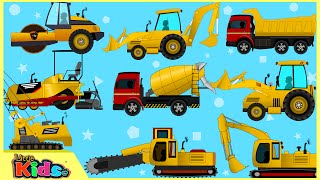 getlinkyoutube.com-Learning Construction Vehicles | Trucks and Heavy Equipments for Toddlers | Little Kids TV