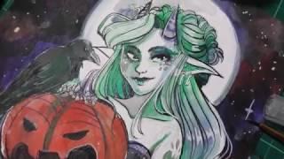 getlinkyoutube.com-Halloween Ink Challenge