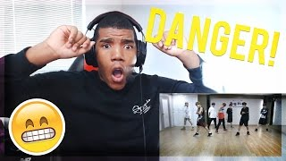 NON KPOP DANCER REACTS TO BTS DANGER DANCE PRACTICE! AWESOME!