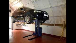 getlinkyoutube.com-home made 1 post car lift,
