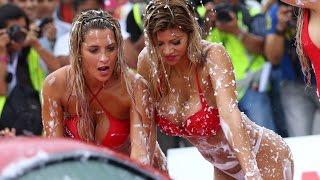 getlinkyoutube.com-Sexy Carwash 2016 con Xoana Gonzalez, Macarena Gastaldo y Alessandra Méndez