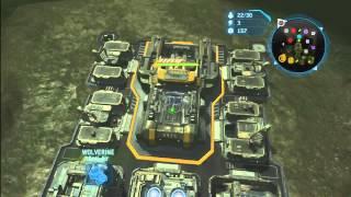 getlinkyoutube.com-Halo Wars - 3v3 Epic General Game!