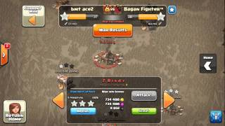 Hog rider max th11 3 stars in war