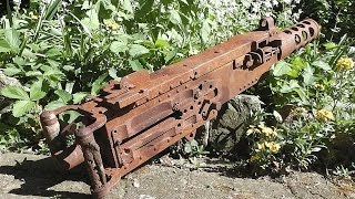 getlinkyoutube.com-WW2 Relikte Teil 72 : Schweres Browning cal.50 Maschinengewehr ( Sondeln / Westfront)
