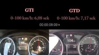 getlinkyoutube.com-VW Golf 7 GTI DSG vs. GTD DSG Sound Test