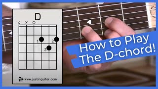 getlinkyoutube.com-Super Easy First Guitar Lesson - Guitar Lessons For Beginners - Stage 1 - The D Chord