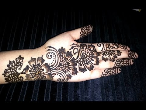 Arabic Floral Henna - Simple Flowers Fusion Style Mehndi design video - Best Henna Design 2014