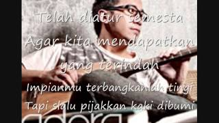 Adera   Catatan Kecil (lyrics)