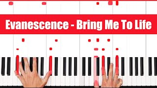 How To Play Bring Me To Life Evanescence Piano Tutorial (FULL LESSON) ♫ LICK