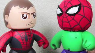 getlinkyoutube.com-Marvel Mighty Muggs Spider-man with Removable Mask SDCC 2011 Exclusive Toy Review