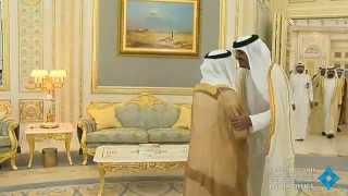 getlinkyoutube.com-رئيس الدولة يستقبل أمير قطر بحضور محمد بن راشد