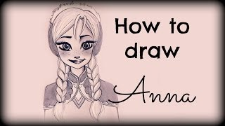 getlinkyoutube.com-Drawing Tutorial ❤ How to draw Anna from Frozen