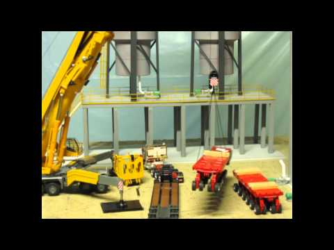 LIEBHERR LTM 11200 ASSEMBLY vid (stop motion) PART 1