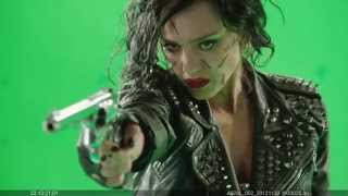 """""""Sin City 2"""" in high speed, folks. With green screen."""