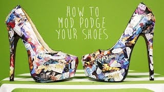 getlinkyoutube.com-DIY Comic Book Mod Podged Shoes
