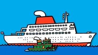 getlinkyoutube.com-Мультики для самых маленьких - лодки, лодочки, корабли, парусники, лайнеры, буксиры - обзор приложения boats