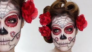 getlinkyoutube.com-Easy Sugar Skull | Day Of The Dead MakeUp Tutorial For Halloween | Shonagh Scott | ShowMe MakeUp