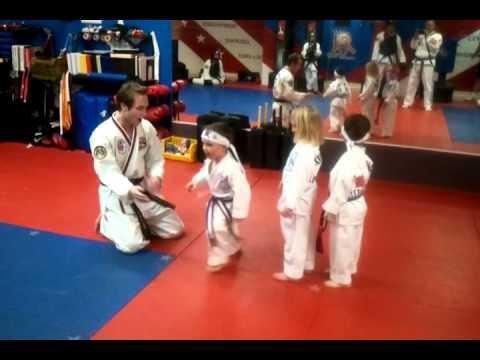 ATA Family Martial Arts Centennial-Tiny Tiger Cubs Pad Drills-Karate Kids