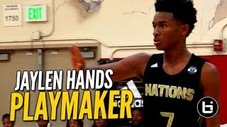 getlinkyoutube.com-Elite PG Jaylen Hands Shows Playmaking Skills at The League! Full Raw Highlights
