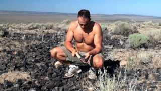getlinkyoutube.com-Collecting Obsidian & Primitive Archery Rabbit Hunt in Oregon (HD)