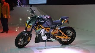 Hero Hastur Street Fighter Concept Motorcycle 600 CC, 80 BHP Twin Cylinder At Auto Expo 2014