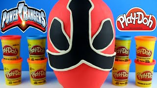 getlinkyoutube.com-Giant Power Rangers Play Doh Surprise Egg - Power Rangers Toys Transformers Optimus Prime Minions
