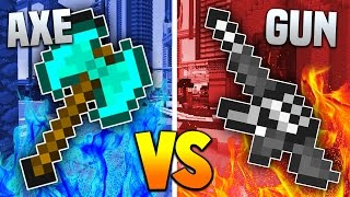 getlinkyoutube.com-AXES vs GUNS! | Minecraft MOD BATTLE! (Balkon's Weapon Mod)