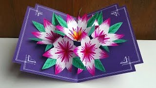getlinkyoutube.com-Making A 3d Flower Pop UP Card - Easy And Simple Steps |