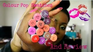 getlinkyoutube.com-Colourpop!!!!! Review and Swatches