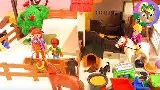 getlinkyoutube.com-Playmobil fazenda de Pôneis – Interior e Baias do Cavalos