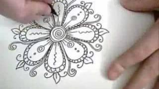 getlinkyoutube.com-Flowers are Fun! - Ink Drawing