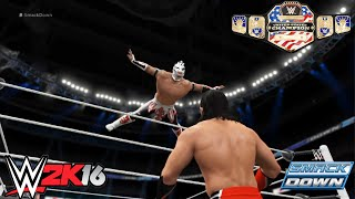 getlinkyoutube.com-Kalisto vs. Neville – United States Championship Match: SmackDown 2016 WWE 2K16 Simulation
