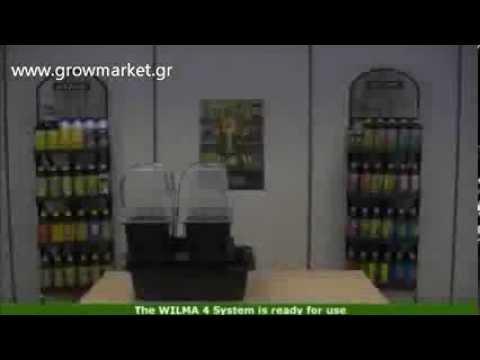 Υδροπονια με το  wilma 4 hydroponics