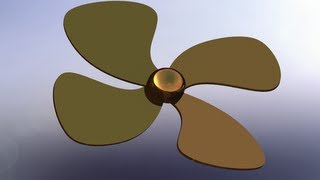 SolidWorks P Tutorial #80: Propeller Drawing (simple & effective)