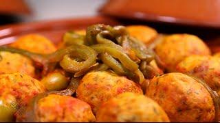 getlinkyoutube.com-شميشة : طاجين كويرات الدجاج بصلصة الطماطم والزيتون | طاجين كويرات الدجاج بالبصل والعنب المجفف