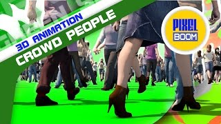 getlinkyoutube.com-Green Screen Crowd People Walking Various Angles - Footage PixelBoom