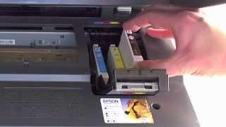 getlinkyoutube.com-Epson DX7400 - Changing the cartridges