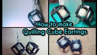 getlinkyoutube.com-HOW TO  MAKE QUILLING CUBE SHAPED EARRINGS.
