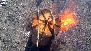 getlinkyoutube.com-Шведское бревно (Swedish Fire Torch).