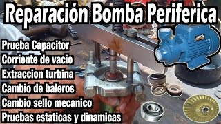 Diagnostico reparacion bomba periferica china