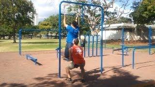 getlinkyoutube.com-Beginner Easy Bar Body Weight Workout Calisthenics (10+ Exercises)