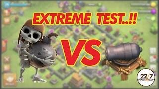 getlinkyoutube.com-Extreme COC test!! Wallbreaker vs Cannon