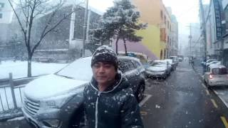 getlinkyoutube.com-SUDDEN SNOW seoul south korea feb 28 2016